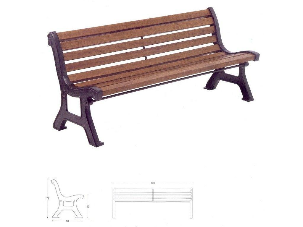 Panchina roma in ghisa e legno per arredo urbano in ghisa for Arredo urbano