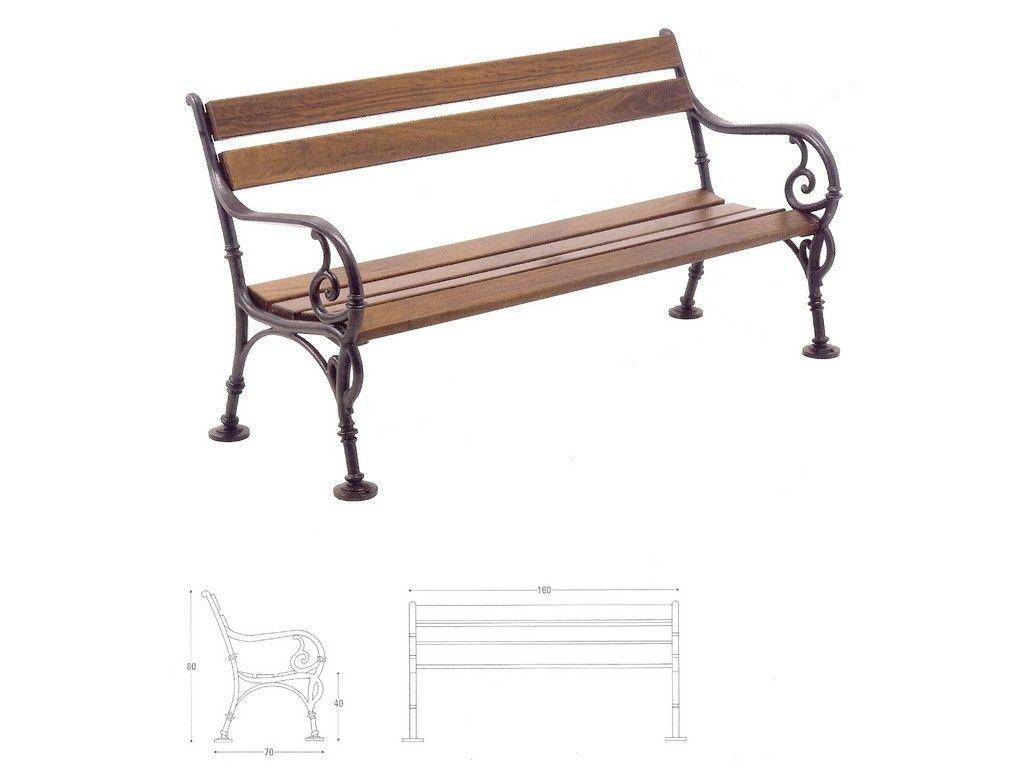 Panchina vienna in ghisa e legno per arredo urbano in for Arredo urbano panchine