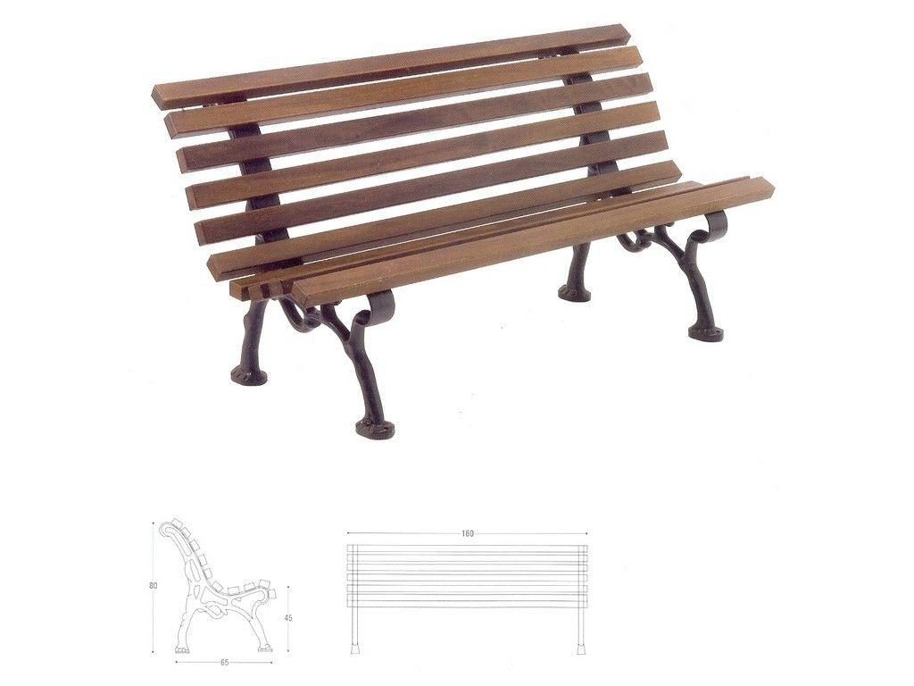 Panchina milano in ghisa e legno per arredo urbano in for Arredo urbano