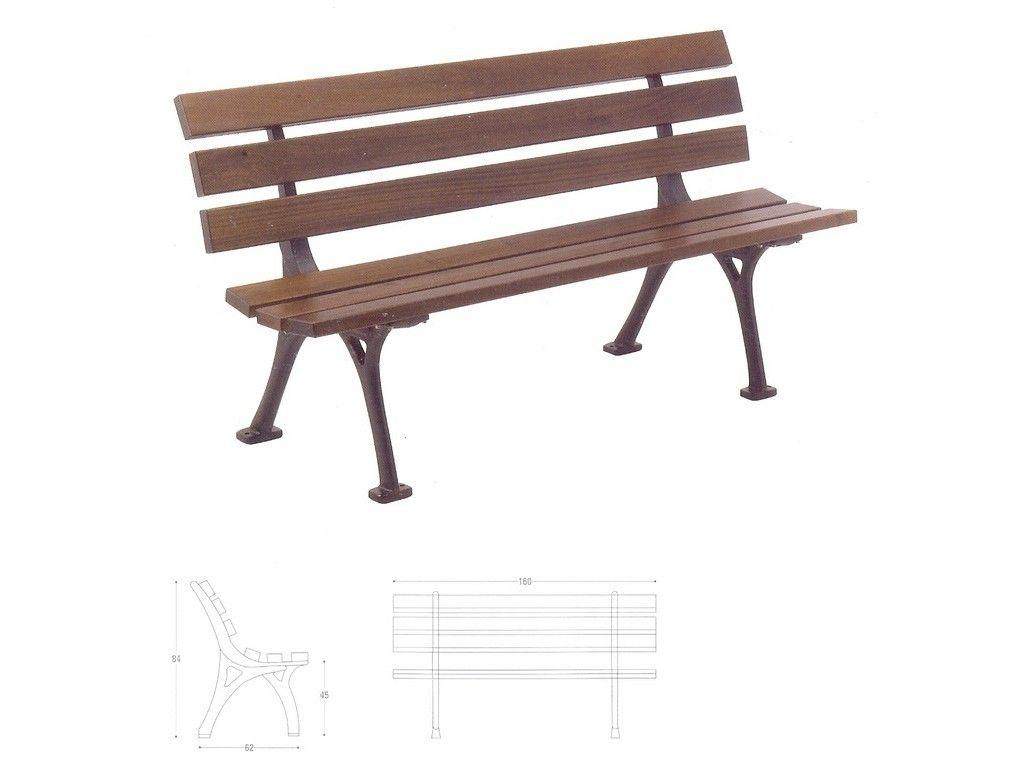 Panchina genova in ghisa e legno per arredo urbano in for Arredo urbano panchine