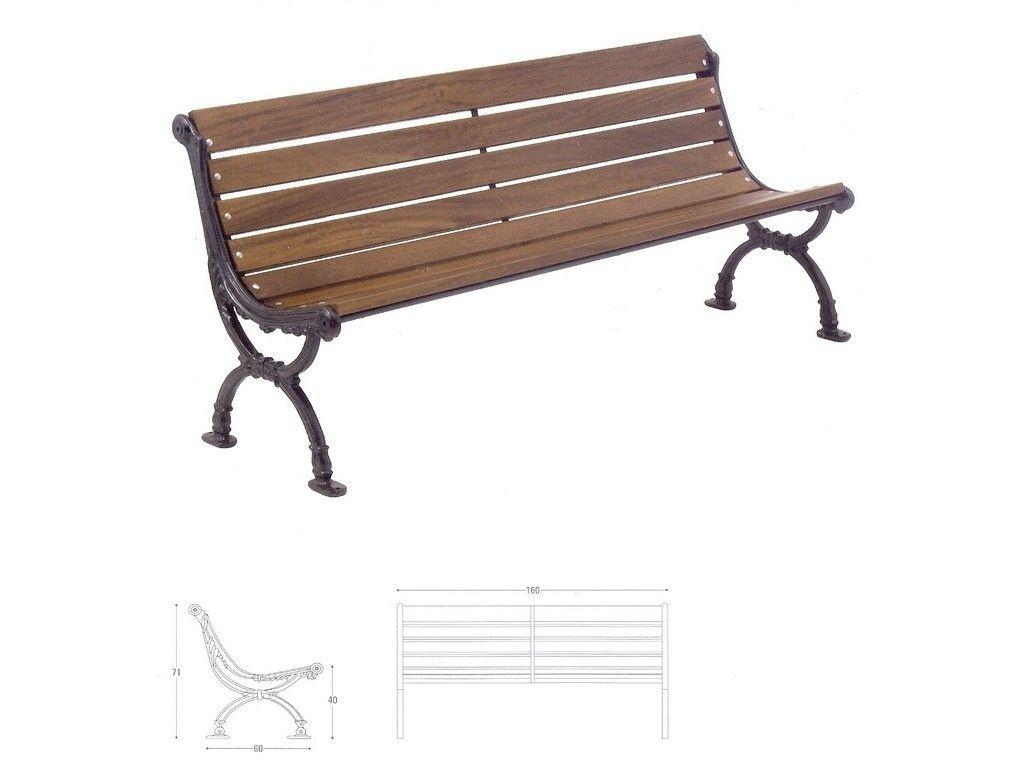 Panchina torino in ghisa e legno per arredo urbano in for Arredo urbano panchine