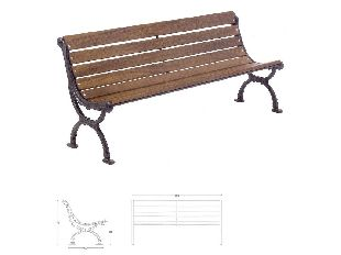 Panchina torino in ghisa e legno per arredo urbano in for Arredo urbano torino