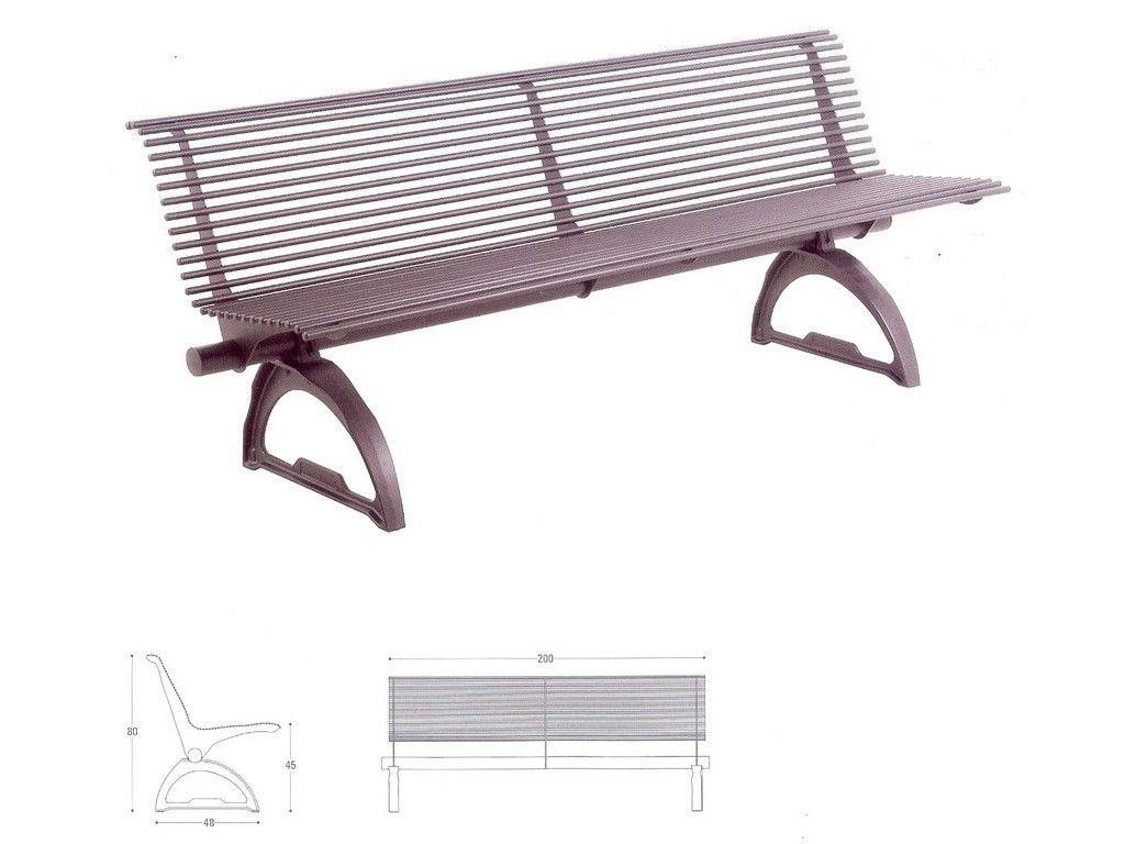 Panchina marilleva per arredo urbano in ghisa sferoidale for Arredo urbano panchine