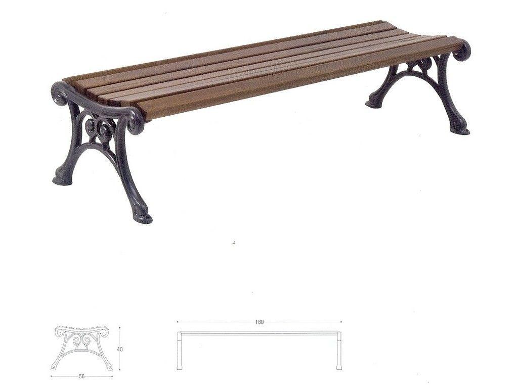 Panca cortina ghisa e legno per arredo urbano in ghisa for Panca arredo